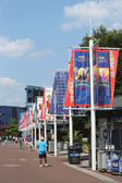 Billie Jean King National Tennis Center ready for US Open 2013 tournament — Stock Photo