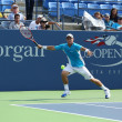 Постер, плакат: Two times Grand Slam champion Lleyton Hewitt practices for US Open 2013 at Louis Armstrong Stadium at Billie Jean King National Tennis Center