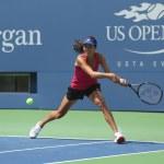 Постер, плакат: Grand Slam champion Ana Ivanovich practices for US Open 2013 at Arthur Ashe Stadium at Billie Jean King National Tennis Center