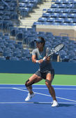 Grand Slam champion Na Li practices for US Open 2013 at Arthur Ashe Stadium at Billie Jean King National Tennis Center — Stock Photo