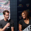 US Open 2012 champions SerenWilliams and Andy Murray at 2013 US Open Draw Ceremony — Stock Photo #30282959
