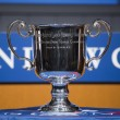 Stockfoto: US Open Women singles trophy presented at 2013 US Open Draw Ceremony