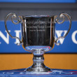 US Open Women singles trophy presented at the 2013 US Open Draw Ceremony — ストック写真