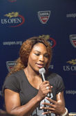 Sixteen times Grand Slam champion Serena Williams at the 2013 US Open Draw Ceremony — Stock Photo