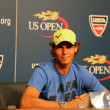 Twelve times Grand Slam champion Rafael Nadal during press conference at Billie Jean King National Tennis Center — Stock Photo