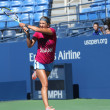 Stock Photo: Two times Grand Slam champion VictoriAzarenkpractices for US Open 2013 at Arthur Ashe Stadium