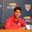 Постер, плакат: Seven times Grand Slam champion Novak Djokovic during press conference at Billie Jean King National Tennis Center