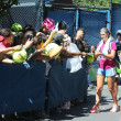 Two times Grand Slam champion VictoriAzarenksigning autographs after practice for US Open 2013 — Stock Photo #30361677