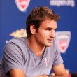 Seventeen  times Grand Slam champion Roger Federer during press conference at Billie Jean King National Tennis Center — Stock Photo