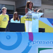 First Lady Michelle Obama Encourages Kids to Stay Active at Arthur Ashe Kids Day  at Billie Jean King National Tennis Center — Stock Photo
