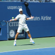 Professional tennis player Ricardas Berankis practices for US Open 2013 at Billie JeKing National Tennis Center — Stock Photo #30361855