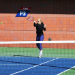 Professional tennis player Sabine Lisicki practices for US Open 2013 at Billie JeKing National Tennis Center — Stock Photo #30362981