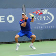 Постер, плакат: Professional tennis player Andreas Haider Maurer from Austria during his first round match at US Open 2013