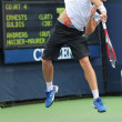 Stock Photo: Professional tennis player Ernests Gulbis from Latviduring his first round match at US Open 2013