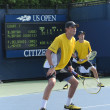 Stock Photo: Grand Slam champions Mike and Bob Bryduring first round doubles match at US Open 2013