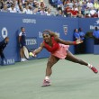 Seventeen times Grand Slam champion Serena Williams during her final match at US Open 2013 against Victoria Azarenka — Stock Photo #31074497