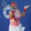 Stock Photo: Two times Grand Slam champion VictoriAzarenkduring her final match at US Open 2013 against SerenWilliams