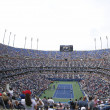 Areal view of Arthur Ashe Stadium at the Billie Jean King National Tennis Center during US Open 2013 — Stock Photo