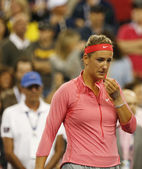 Two times Grand Slam champion Victoria Azarenka in tears after she lost final match at US Open 2013 — Stock Photo