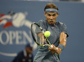 Twelve times Grand Slam champion Rafael Nadal during his second round match at US Open 2013 — 图库照片