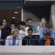 Irector Spike Lee attends match at US Open 2013 between Roger Federer and AdriMannarino — Stock Photo #31437855