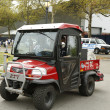 Постер, плакат: FDNY Haz Mat Kubota RTV Utility Vehicle near National Tennis Center during US Open 2013