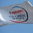 Stock Photo: Emirates Airline US Open Series flag at Billie JeKing National Tennis Center during US Open 2013