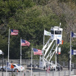 NYPD Sky Watch platform providing security at National Tennis Center during US Open 2013 — Stock Photo