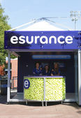 Esurance booth at the Billie Jean King National Tennis Center during US Open 2013 — Stock Photo