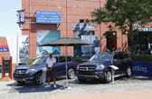 Mercedes- Benz cars at National Tennis Center during US Open 2013 — Stock Photo
