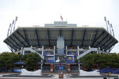 Arthur Ashe Stadium at the Billie Jean King National Tennis Center before US Open 2013 men final match — Stock Photo
