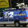 WCBS Channel 2 van in midtown Manhattan — Stock Photo