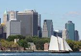 Schooner America 2.0 in New York Harbor — Stock Photo