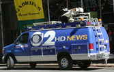 Wcbs-kanal 2-van in midtown manhattan — Stockfoto