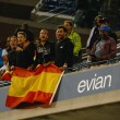 Spanish fans celebrating US Open 2013 champion Rafael Nadal win after final match — Stock Photo