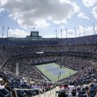 Areal view of Arthur Ashe Stadium at Billie JeKing National Tennis Center during US Open 2013 — стоковое фото #32164233