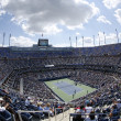Stockfoto: Areal view of Arthur Ashe Stadium at Billie JeKing National Tennis Center during US Open 2013