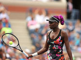 Nine times Nine times Grand Slam champion Venus Williams during her first round match at US Open 2013 — Stock Photo