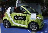 Brabus Smart car on display at Billie Jean King National Tennis Center during US Open 2013 — Stock Photo