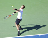 Professional tennis player Andy Murray during quarterfinal match at US Open 2013 against Stanislas Wawrinka — Stock Photo