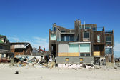 Destroyed beach house in devastated area six months after Hurricane Sandy — Stock Photo