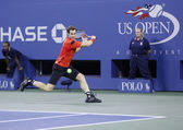 Two times Grand Slam champion Andy Murray during fourth round match at US Open 2013 against Denis Istomin — Stock Photo