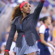 Sixteen times Grand Slam champion Serena Williams during her first round match at US Open 2013 — Stok fotoğraf