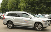 Mercedes- Benz SUV at National Tennis Center during US Open 2013 — Stock Photo