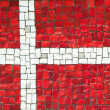 Denmark Flag in Mosaic — Stock Photo