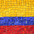 Colombian Flag in Mosaic — Stock Photo