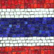 Thailand Flag in Mosaic — Stock Photo #33473249