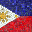 Philippines Flag in Mosaic — Stock Photo