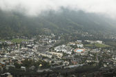 Aerial view of Chamonix, France — Stock Photo