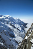 Mont Blanc mountain in the French Alps — Stock Photo